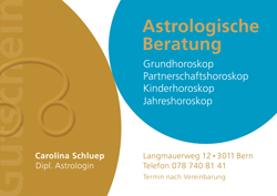 Astrologie-Gutschein